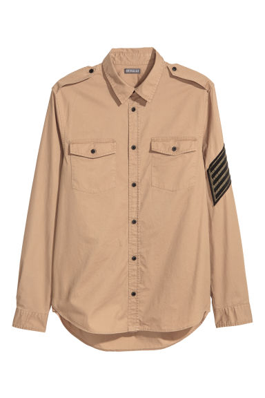 Cotton shirt - Dark beige - Men | H&M IE