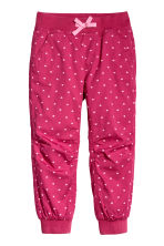 Pull-on trousers - Raspberry pink/Hearts - Kids | H&M CN 2