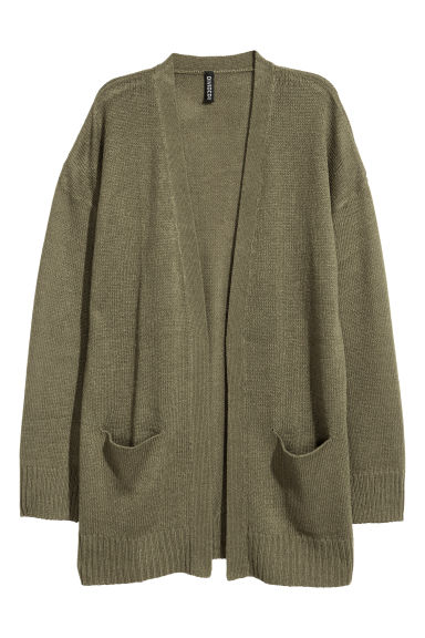 Knitted cardigan - Khaki green - Ladies | H&M