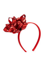 Alice band with a bow - Red - Ladies | H&M CN 1