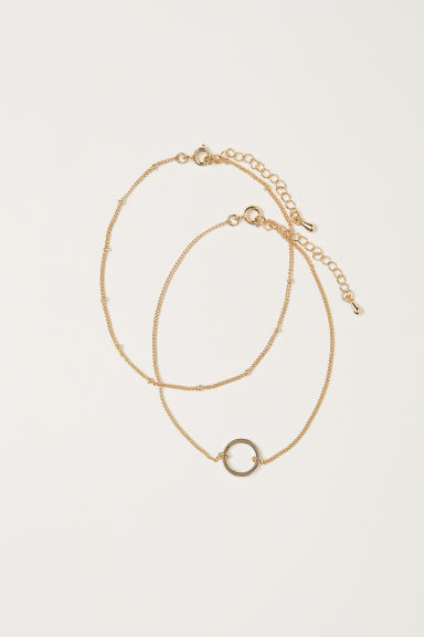 2-pack anklets - Gold-coloured - Ladies | H&M CN