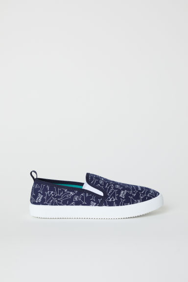 Slip-on mesh trainers - Dark blue - Kids | H&M CN