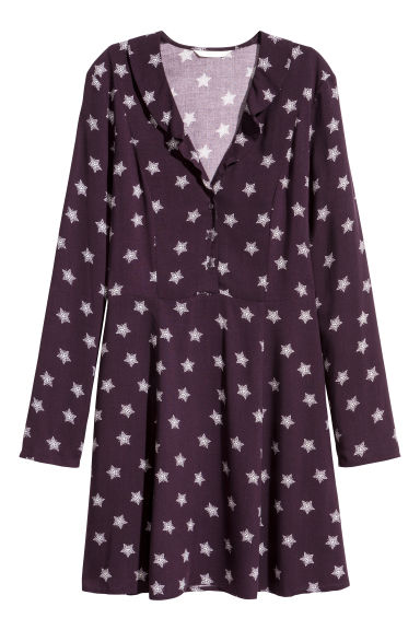 Patterned dress - Plum/Patterned - Ladies | H&M