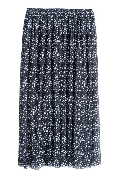 Gonna in pizzo - Blu scuro/stelle -  | H&M CH