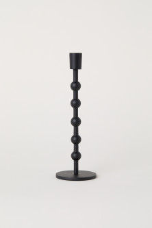 Tall metal candlestick