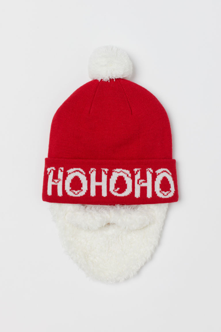 Hat with a beard - Red -  | H&M GB
