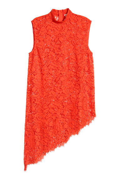 Lace top - Orange - Ladies | H&M