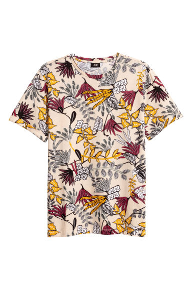 T-shirt - Light beige/Patterned - Men | H&M CN