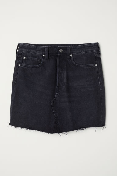 Denim skirt - Black denim - Ladies | H&M
