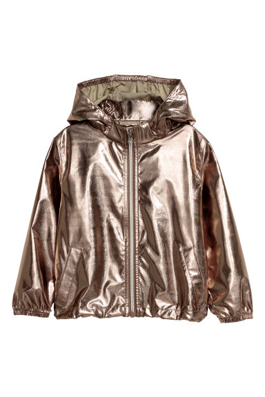 Shimmering metallic jacket - Rose gold-coloured -  | H&M CN