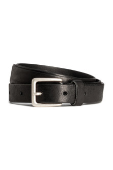 Narrow leather belt