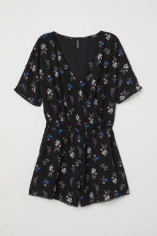 V-neck playsuit