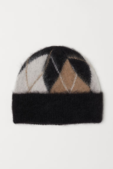 Jacquard-knit hat Model