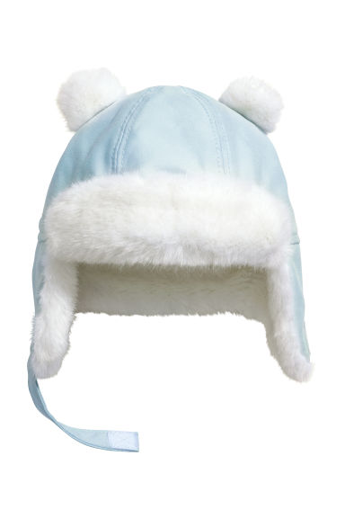 Hat with earflaps - Light blue - Kids | H&M IE