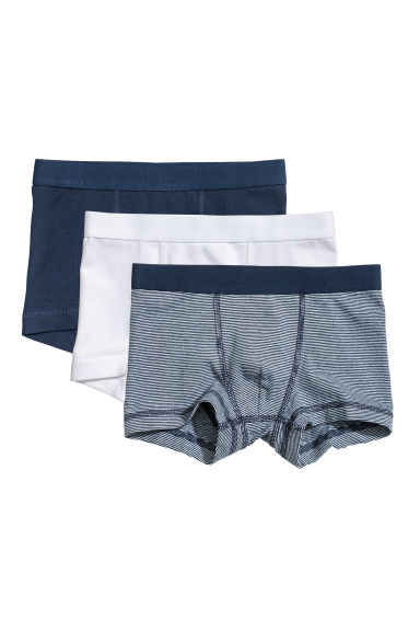 Boxer, 3 pz - Blu scuro/righine -  | H&M IT