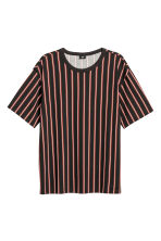 T-shirt in jersey flammé - Nero/rosso righe - UOMO | H&M IT 2