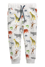 2-pack joggers - Light grey/Wild animals - Kids | H&M CN 3