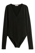 Long-sleeved body - Black - Ladies | H&M GB 2