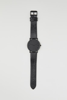 Watch with a leather strap