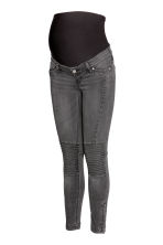 MAMA Skinny Biker Jeans - 牛仔灰 - Ladies | H&M CN 3