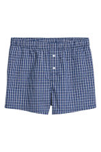 3-pack woven boxer shorts - Bright blue/Checked - Men | H&M CN 4