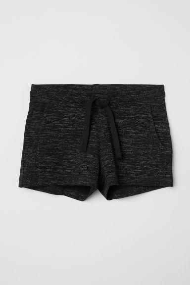 Short jersey shorts - Black marl - Kids | H&M GB