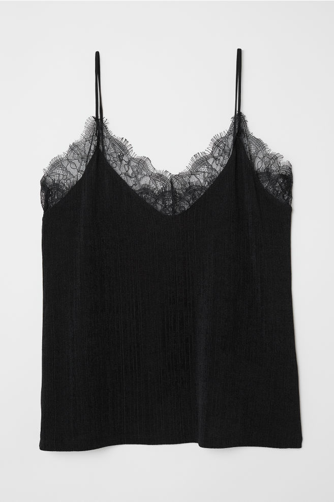 Image result for hm jersey top with lace