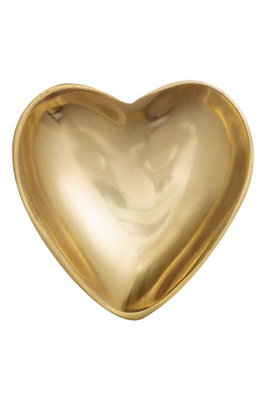 Heart-shaped dish - Gold-coloured - Home All | H&M CN