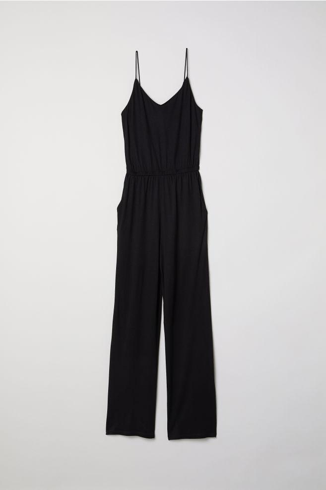 Jersey jumpsuit - Black - Ladies | H&M GB 2