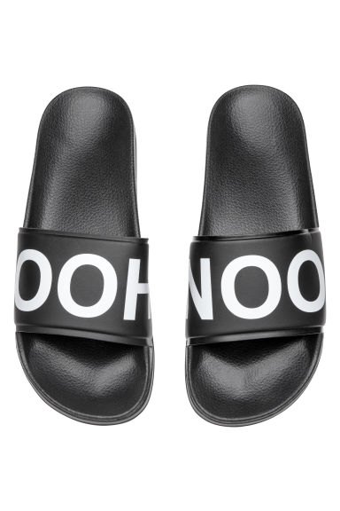 Pool shoes - Black/Patterned -  | H&M