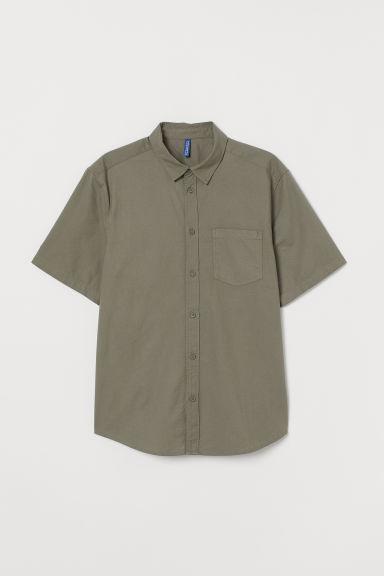 پیراهن آستین کوتاه پنبه ای خاکی