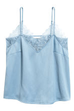 Crinkled strappy top - Light blue - Ladies | H&M CN 2