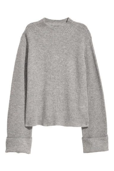 Cashmere jumper - Grey marl - Ladies | H&M GB