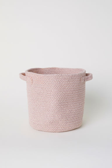 Cotton storage basket - Light pink marl - Home All | H&M GB