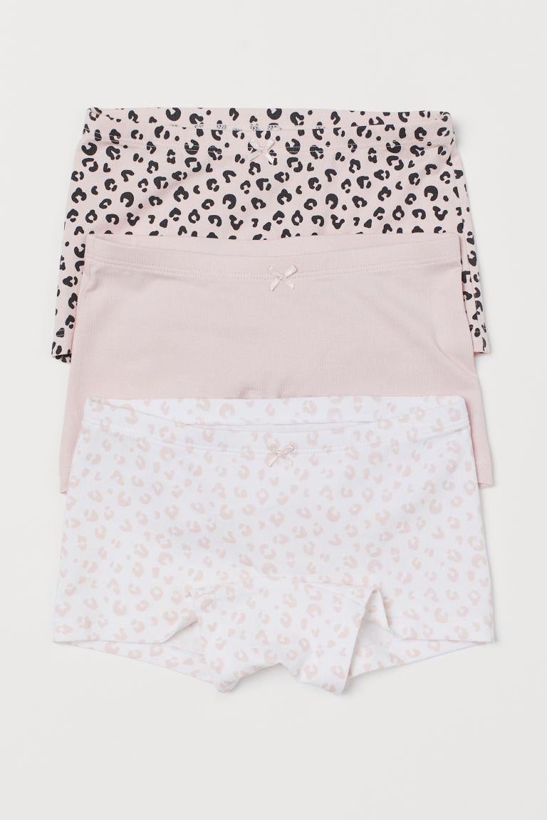 3-pack boxer briefs - Light pink/Leopard print - Kids   H&M GB