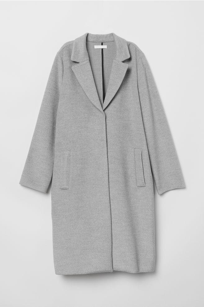 Manteau droit - Gris clair chiné - FEMME | H&M FR 5