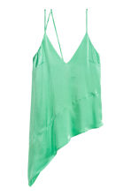 Top asimmetrico in satin - Verde chiaro - DONNA | H&M IT 2