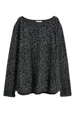 Boat-necked jersey top - Grey/Leopard print - Ladies | H&M CN 2
