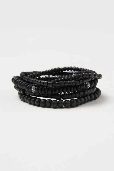 5-pack bracelets - Black - Men | H&M GB