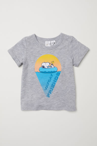 T-shirt con stampa - Grigio mélange/Snoopy -  | H&M IT