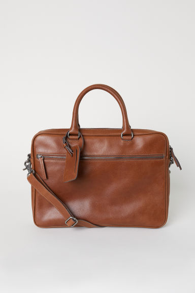 Leather shoulder bag - Brown - Men | H&M CN