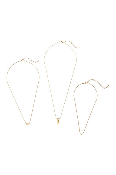 3-pack necklaces - Gold-coloured -  | H&M IE