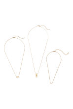 3-pack necklaces - Gold-coloured - Ladies | H&M IE 1