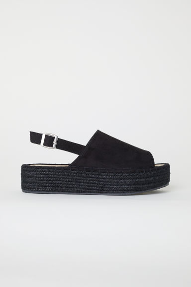Sandali con plateau - Nero -  | H&M IT