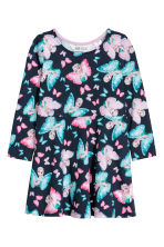 Patterned dress - Dark blue/Frozen - Kids | H&M CN 2