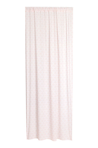 2-pack curtain lengths - Light pink/Patterned -  | H&M GB