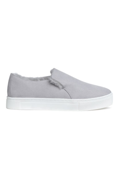 Warm-lined slip-on trainers - Light grey - Ladies | H&M 1