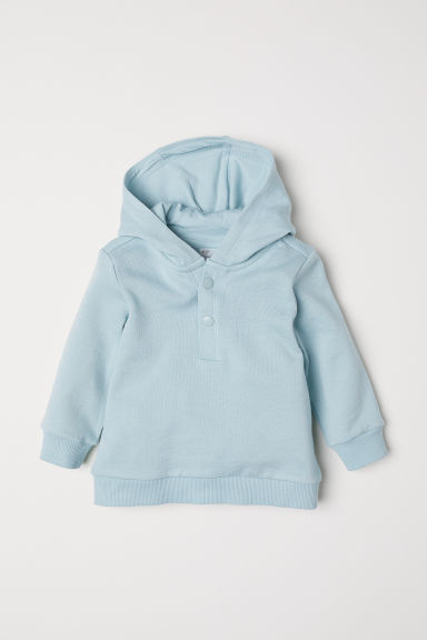 Cotton hooded top - Light turquoise - Kids | H&M CN