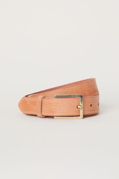 Leather Belt - Light brown - Ladies | H&M US