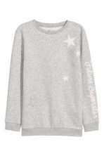 Sweatshirt with a motif - Grey marl/Stars - Kids | H&M CN 2